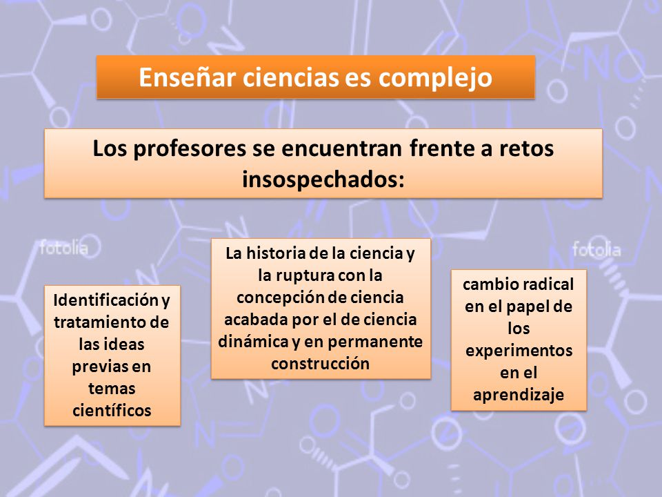 Enseñar ciencias es complejo
