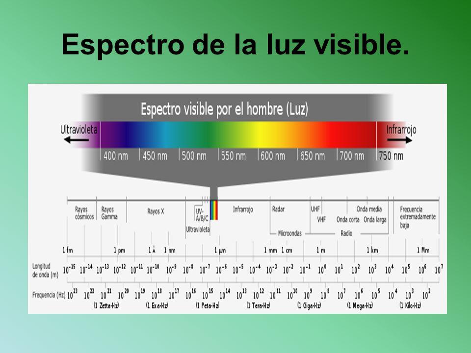 Espectro de la luz visible.