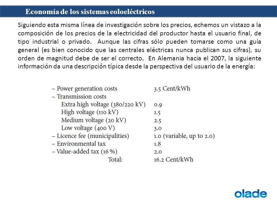 Siguiendo esta misma línea de investigación sobre los precios, echemos un vistazo a la composición de los precios de la electricidad del productor hasta el usuario final, de tipo industrial o privado.