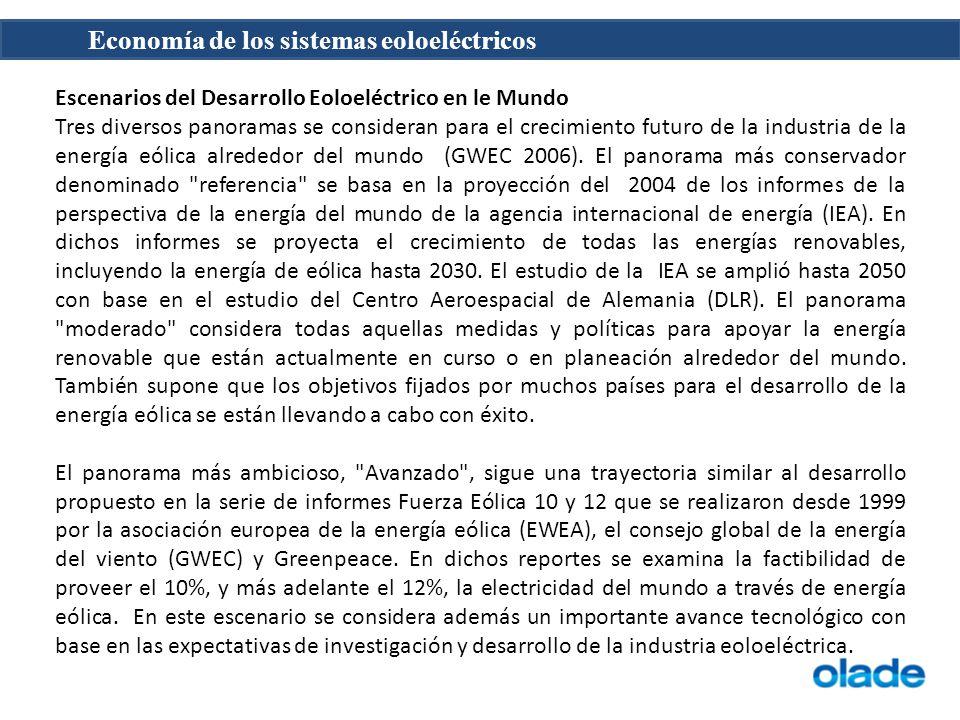 Escenarios del Desarrollo Eoloeléctrico en le Mundo