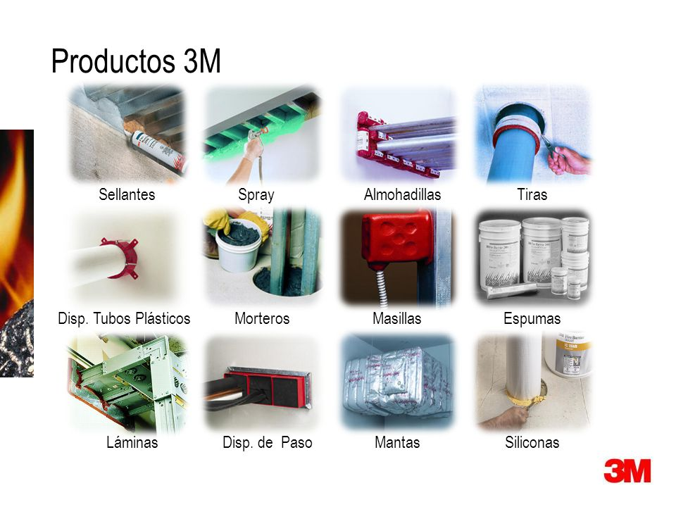 Productos 3M Sellantes Spray Almohadillas Tiras Disp. Tubos Plásticos