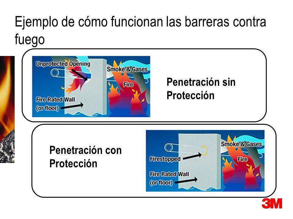 Ejemplo de cómo funcionan las barreras contra fuego