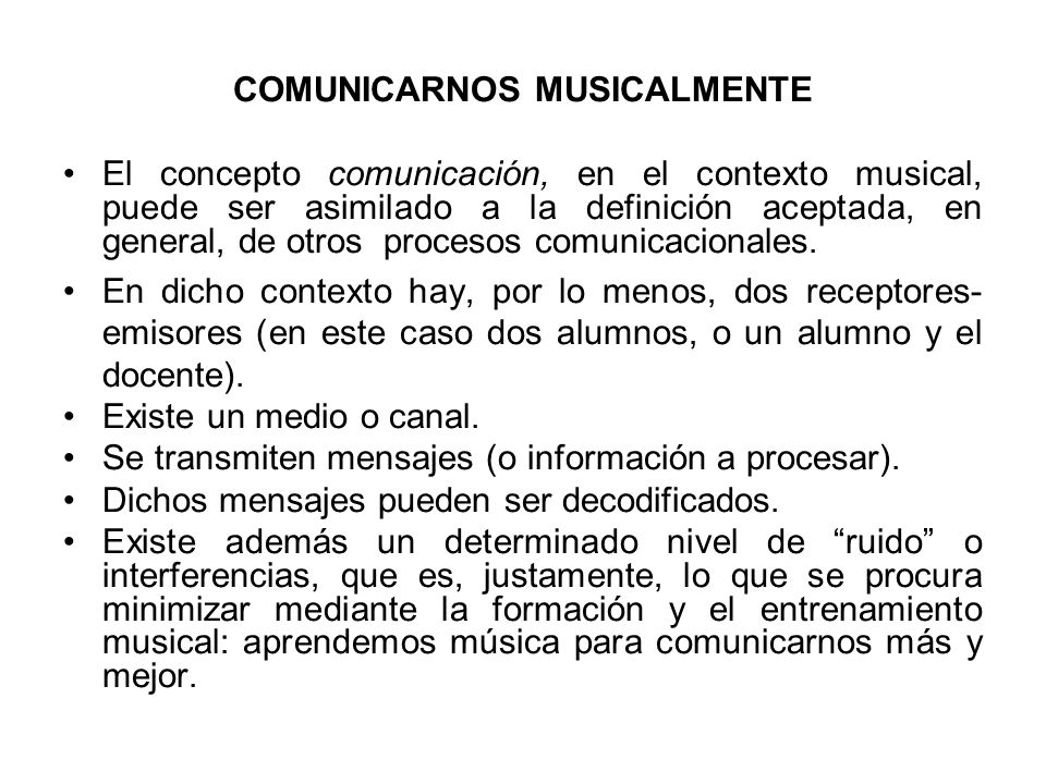 COMUNICARNOS MUSICALMENTE