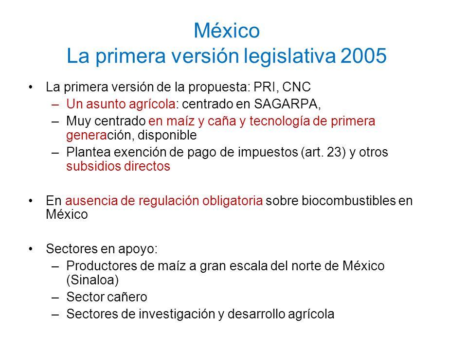 México La primera versión legislativa 2005