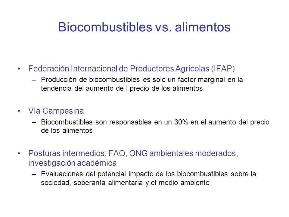 Biocombustibles vs. alimentos