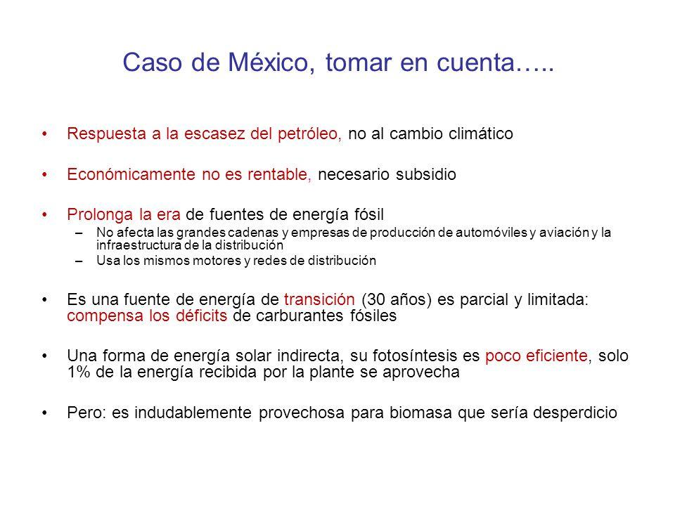 Caso de México, tomar en cuenta…..