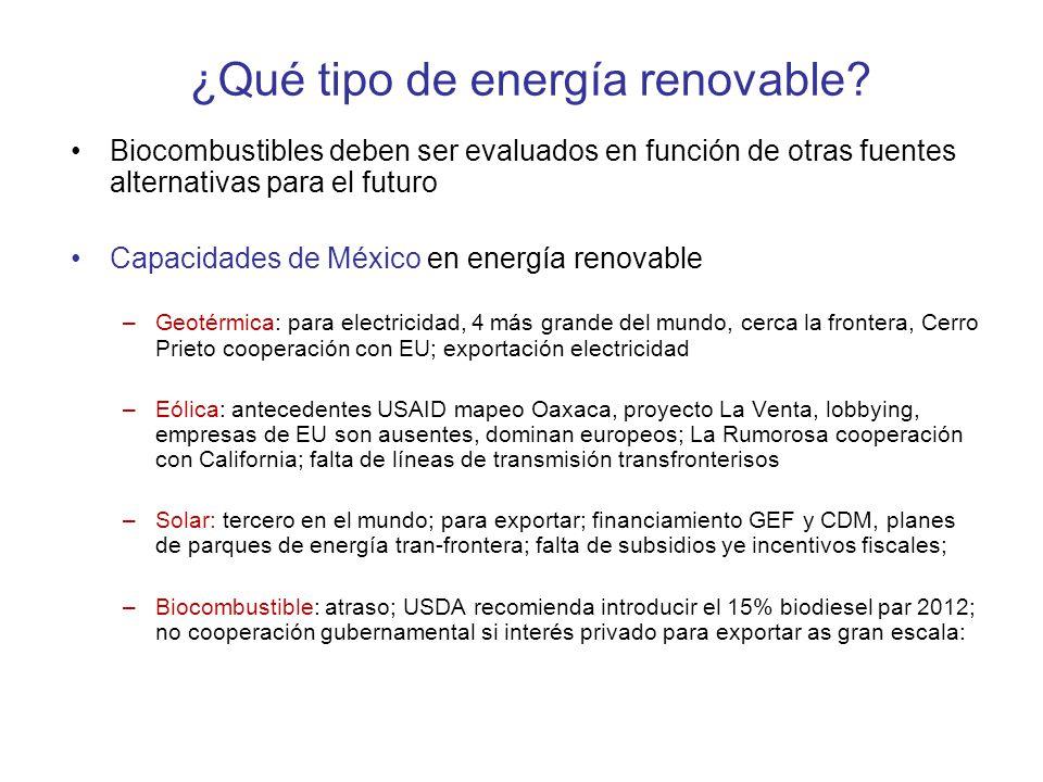 ¿Qué tipo de energía renovable