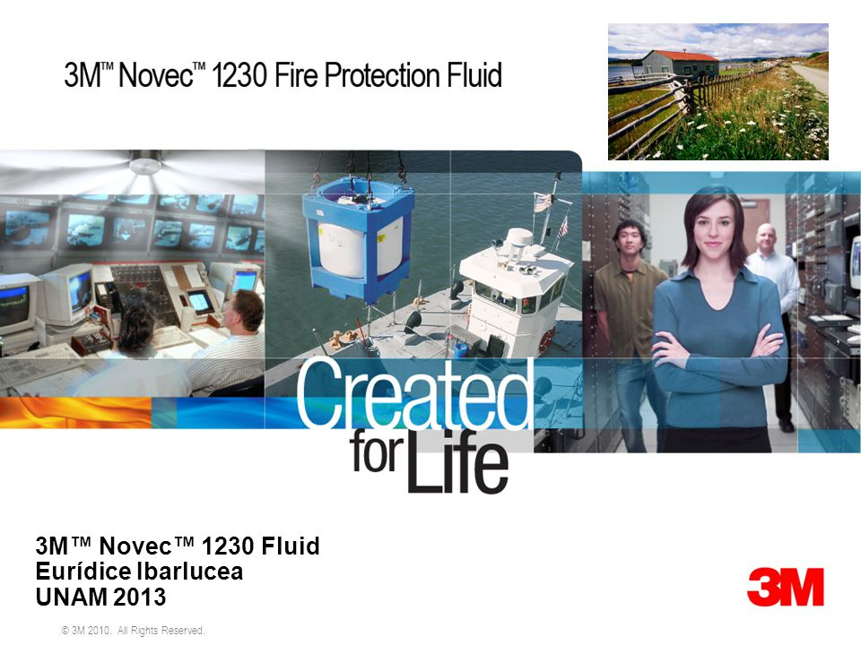 3M™ Novec™ 1230 Fluid Eurídice Ibarlucea UNAM 2013