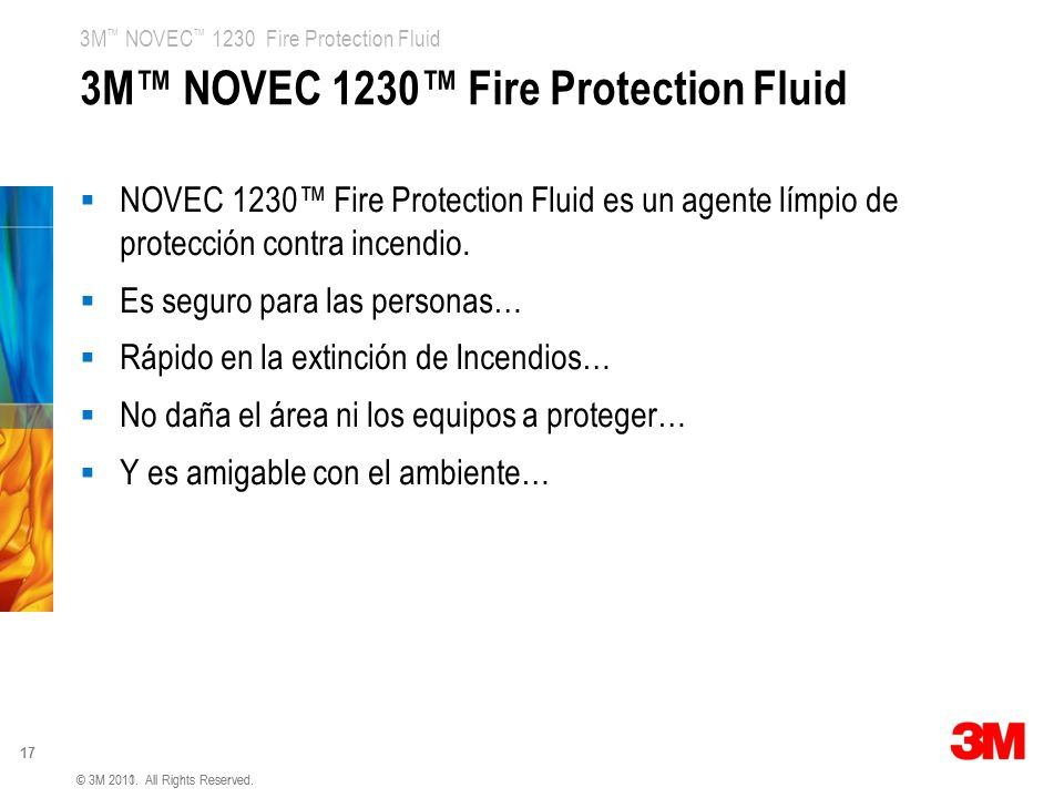 3M™ NOVEC 1230™ Fire Protection Fluid