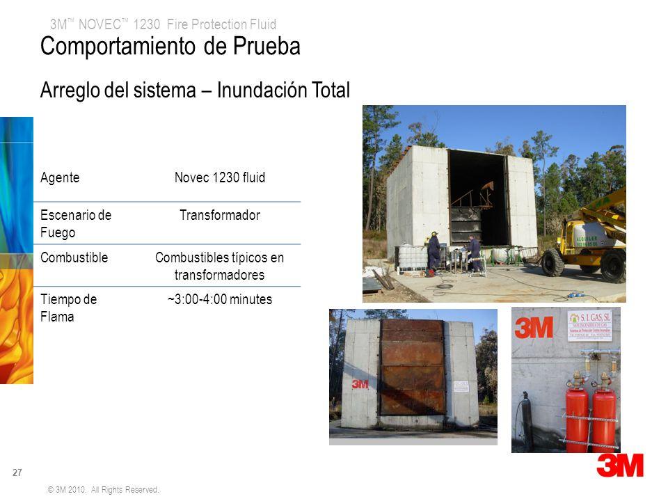 Combustibles típicos en transformadores