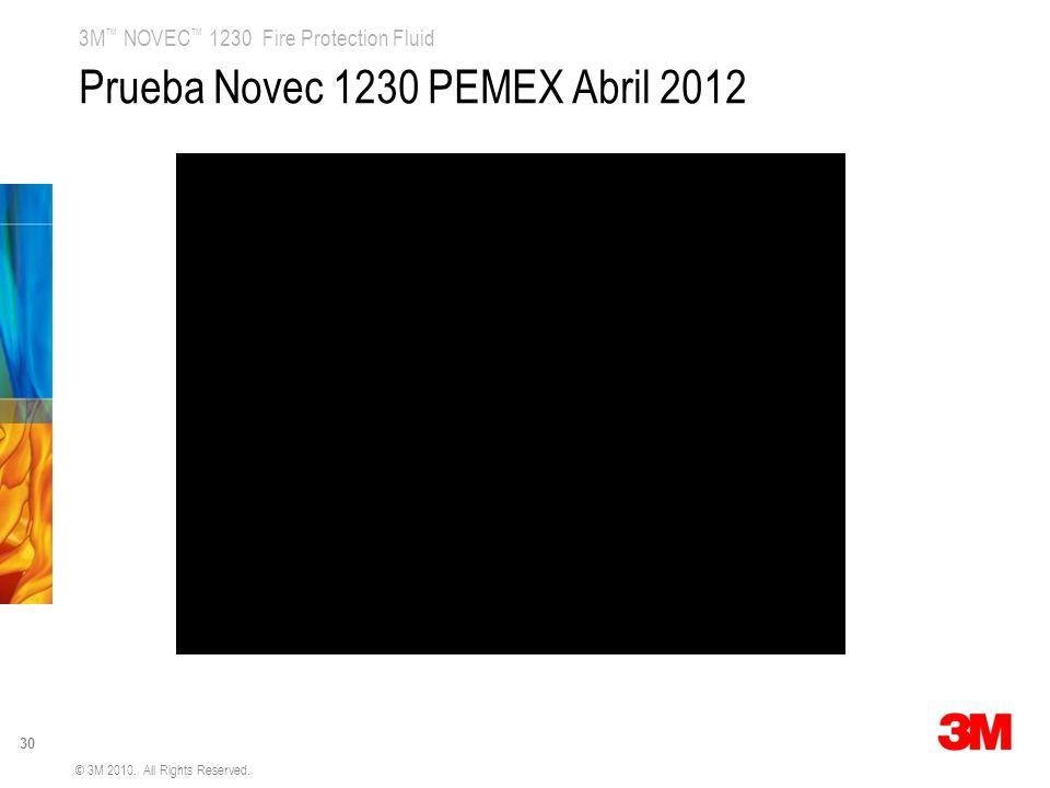 Prueba Novec 1230 PEMEX Abril 2012