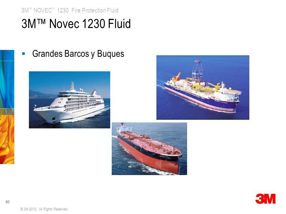 3M™ Novec 1230 Fluid Grandes Barcos y Buques