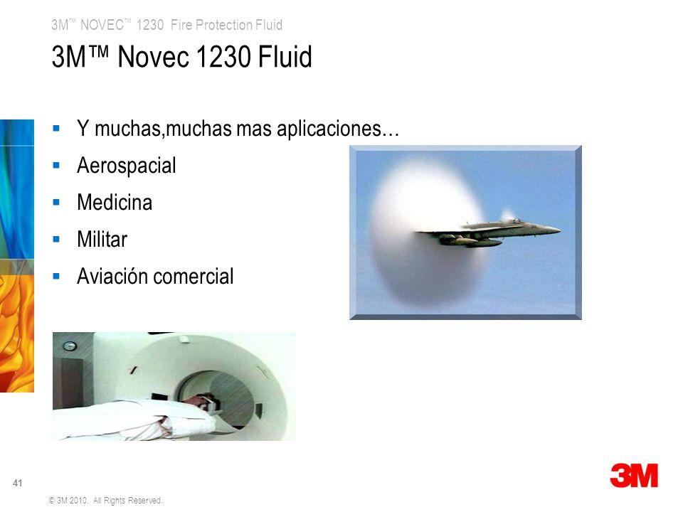 3M™ Novec 1230 Fluid Y muchas,muchas mas aplicaciones… Aerospacial