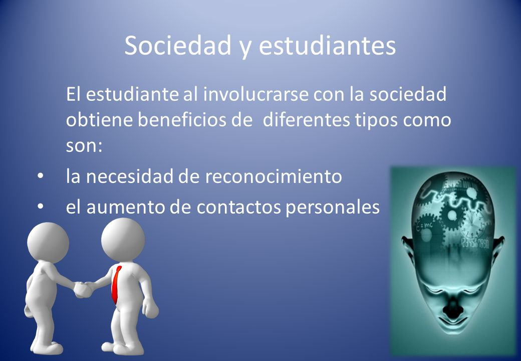 Sociedad y estudiantes