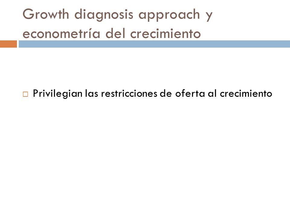 Growth diagnosis approach y econometría del crecimiento