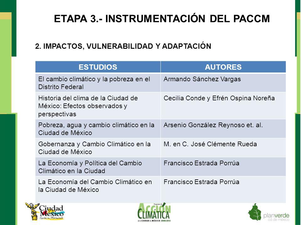 ETAPA 3.- INSTRUMENTACIÓN DEL PACCM