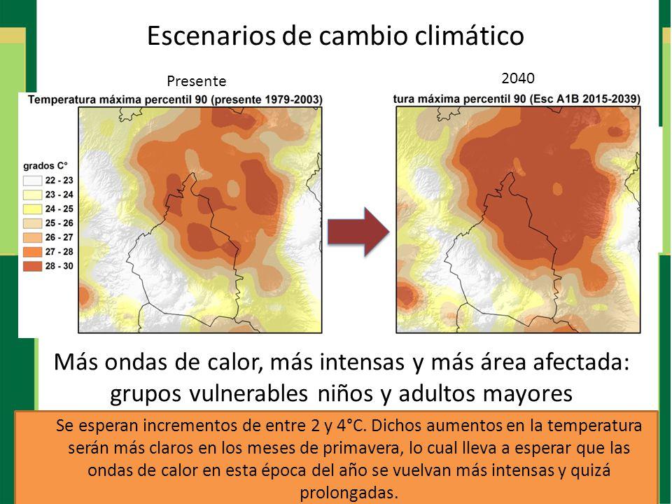 Escenarios de cambio climático