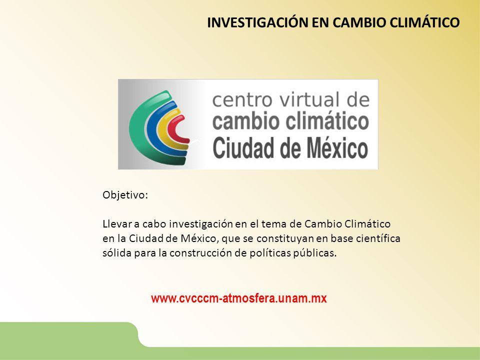 INVESTIGACIÓN EN CAMBIO CLIMÁTICO