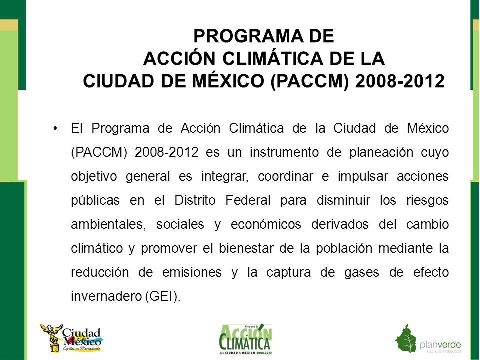 PROGRAMA DE ACCIÓN CLIMÁTICA DE LA CIUDAD DE MÉXICO (PACCM) 2008-2012