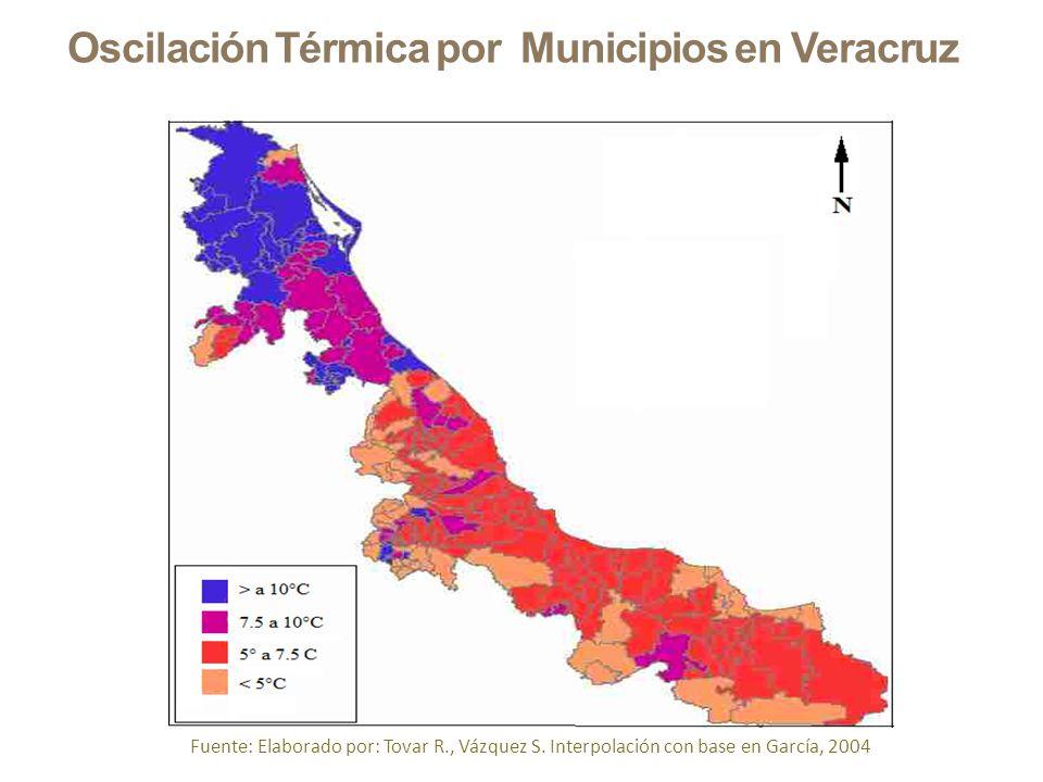 Oscilación Térmica por Municipios en Veracruz