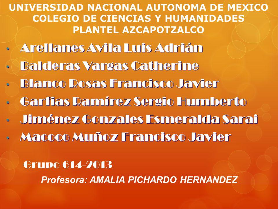 Profesora: AMALIA PICHARDO HERNANDEZ