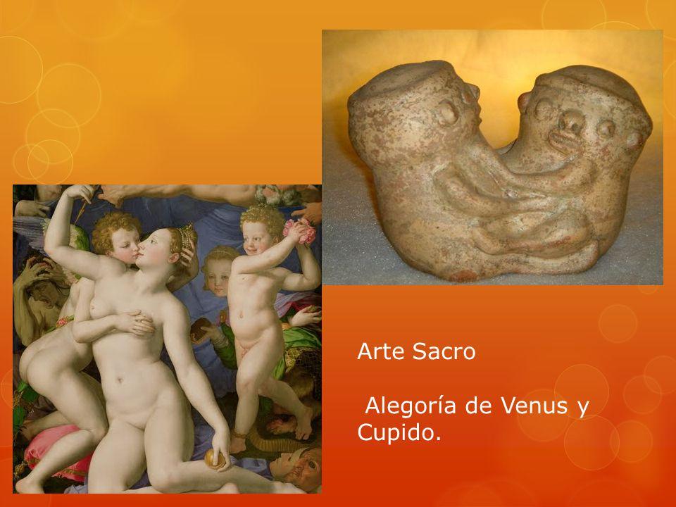 Arte Sacro Alegoría de Venus y Cupido.
