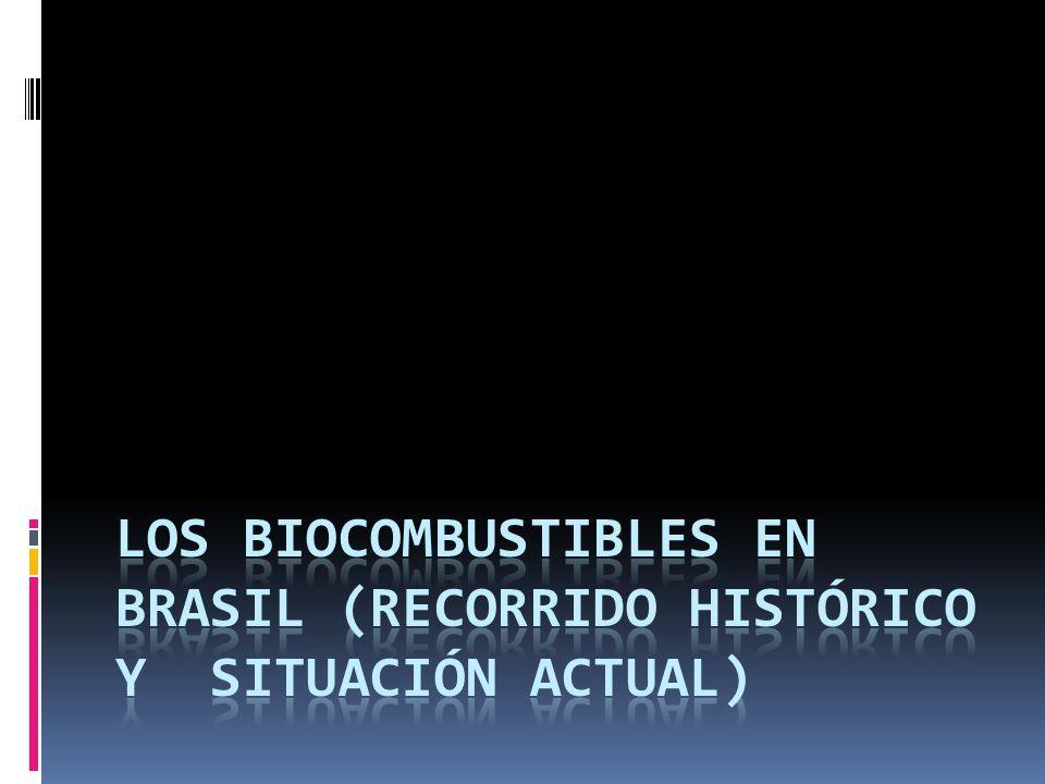 LOS BIOCOMBUSTIBLES EN BRASIL (RECORRIDO HISTÓRICO Y SITUACIÓN ACTUAL)