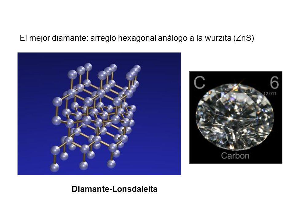 El mejor diamante: arreglo hexagonal análogo a la wurzita (ZnS)