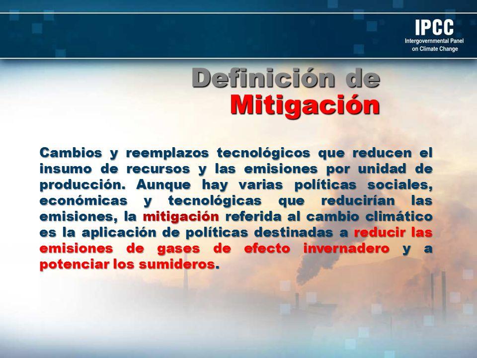 Definición de Mitigación