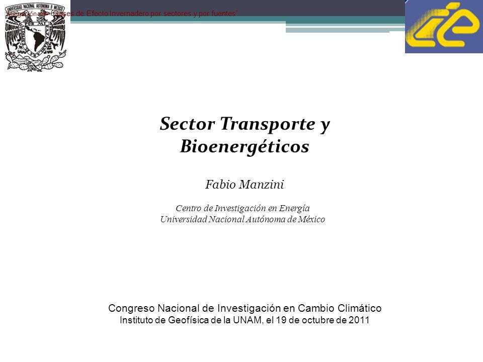 Sector Transporte y Bioenergéticos