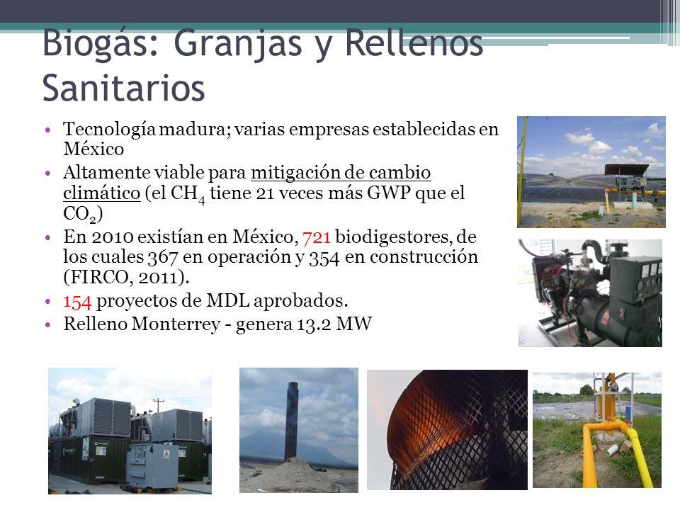 Biogás: Granjas y Rellenos Sanitarios