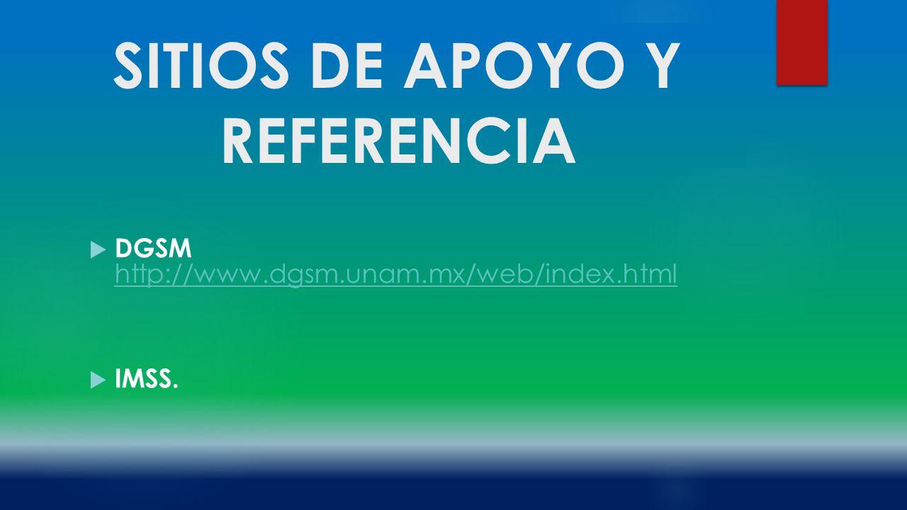 SITIOS DE APOYO Y REFERENCIA