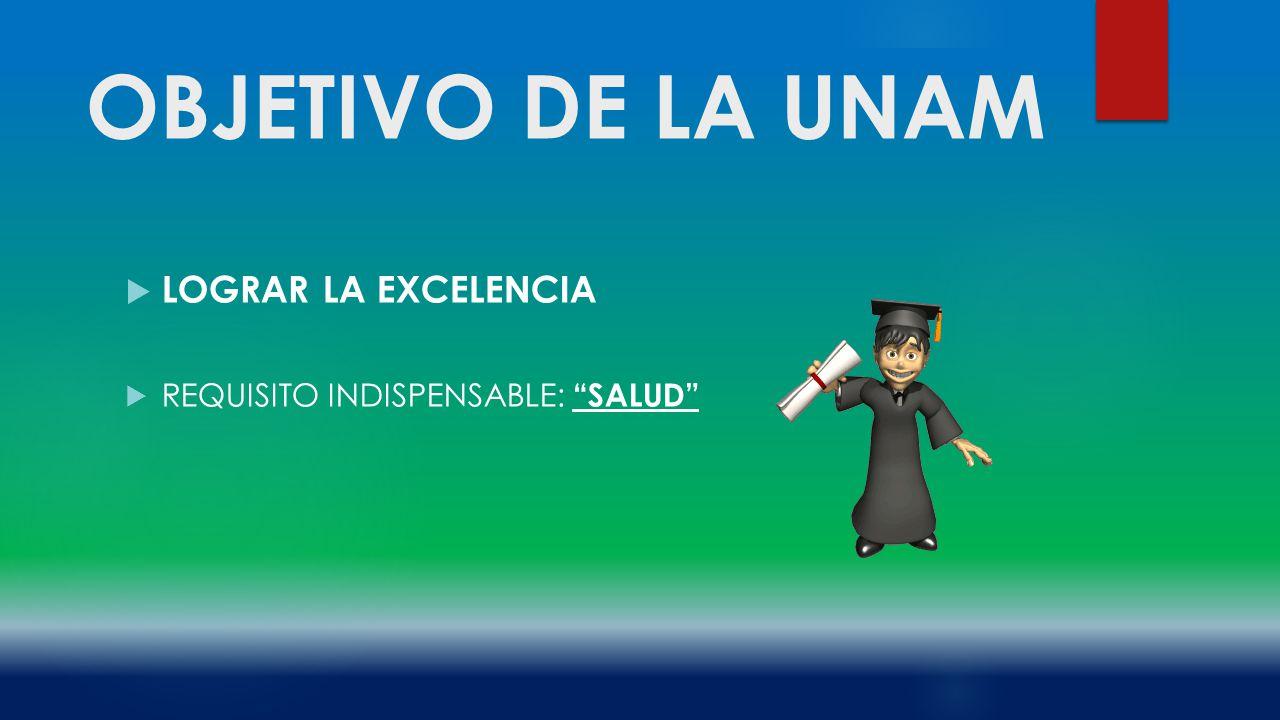 OBJETIVO DE LA UNAM LOGRAR LA EXCELENCIA