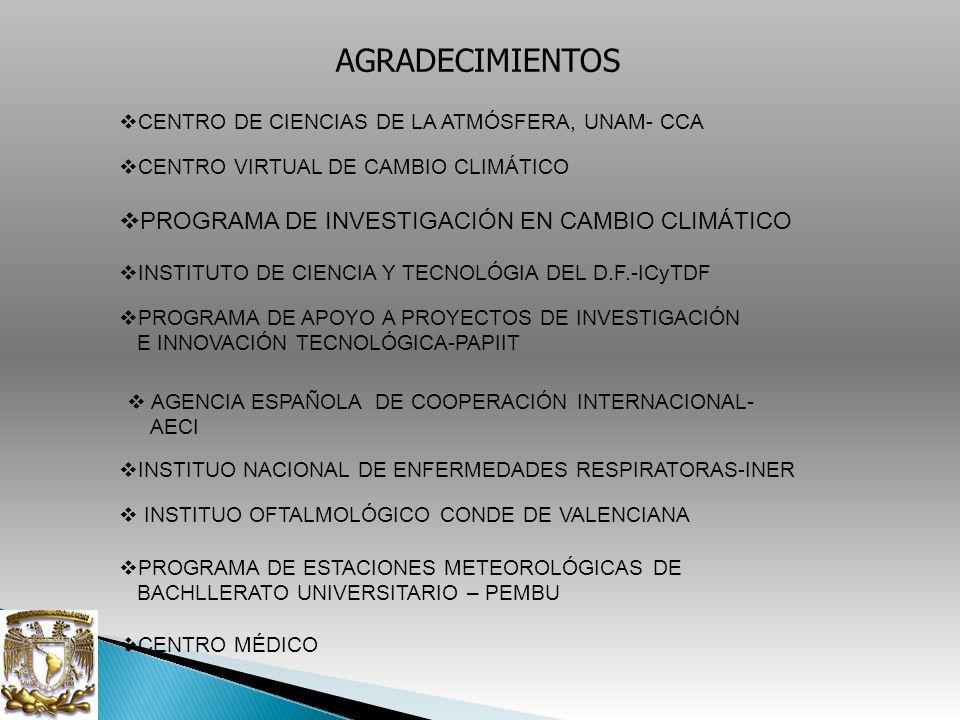 AGRADECIMIENTOS PROGRAMA DE INVESTIGACIÓN EN CAMBIO CLIMÁTICO