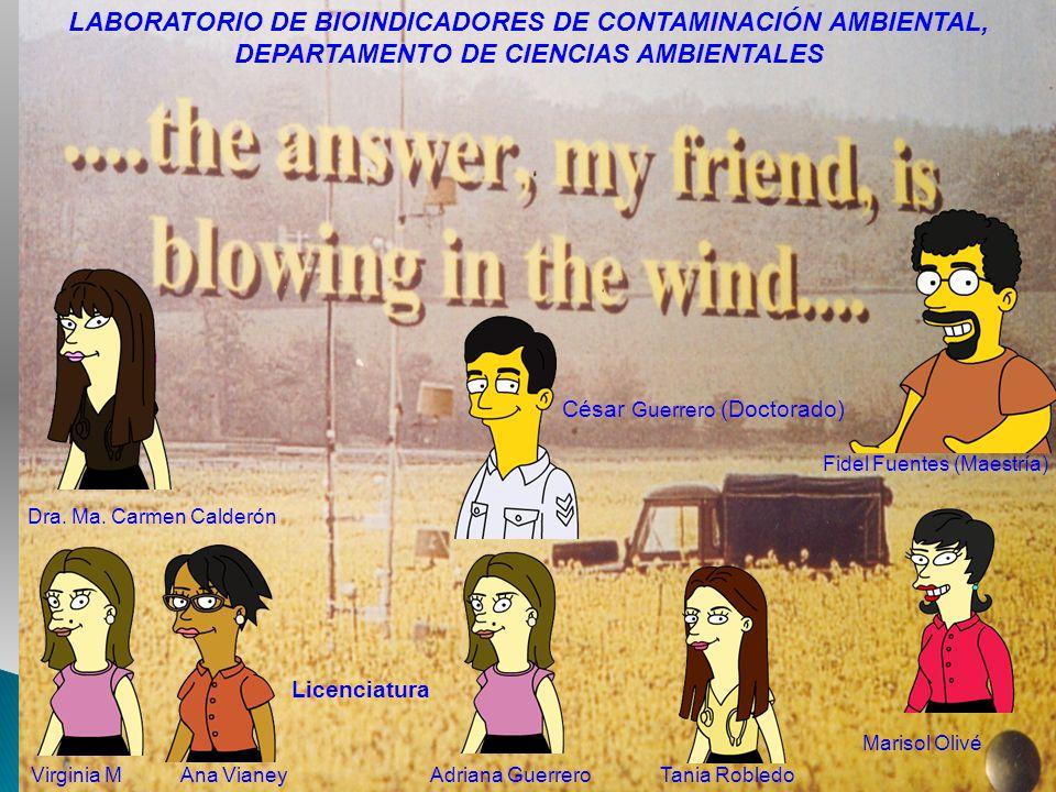 LABORATORIO DE BIOINDICADORES DE CONTAMINACIÓN AMBIENTAL,