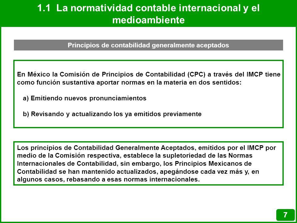 1.1 La normatividad contable internacional y el medioambiente