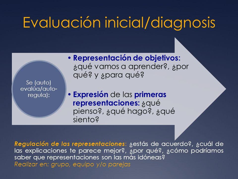 Evaluación inicial/diagnosis