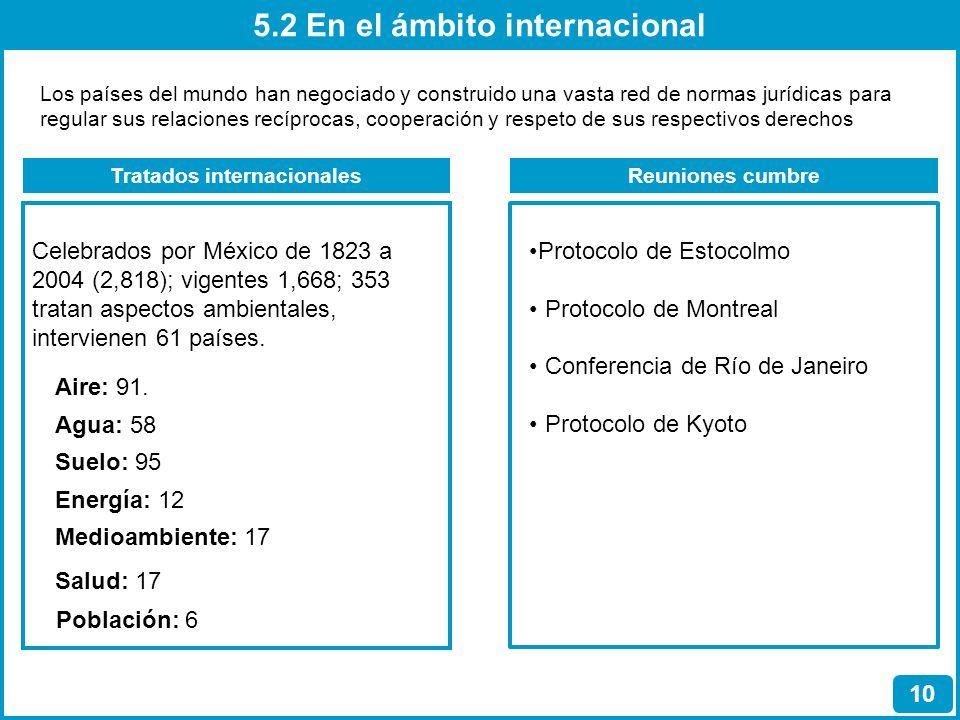 5.2 En el ámbito internacional Tratados internacionales