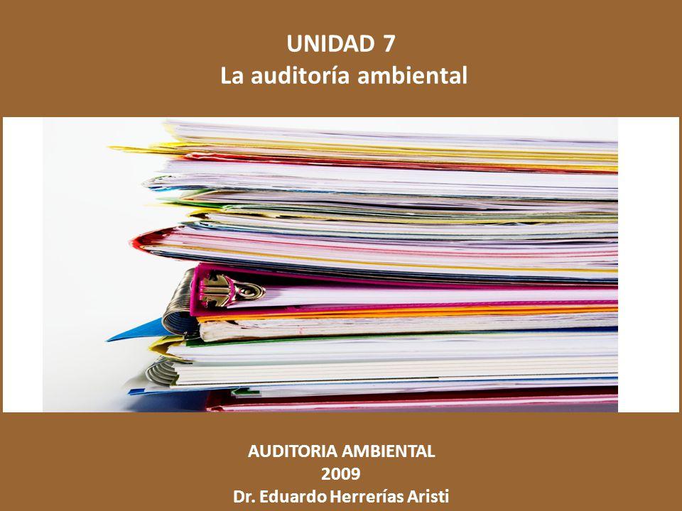 La auditoría ambiental Dr. Eduardo Herrerías Aristi