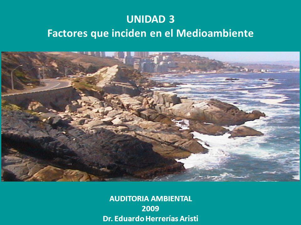 Factores que inciden en el Medioambiente Dr. Eduardo Herrerías Aristi