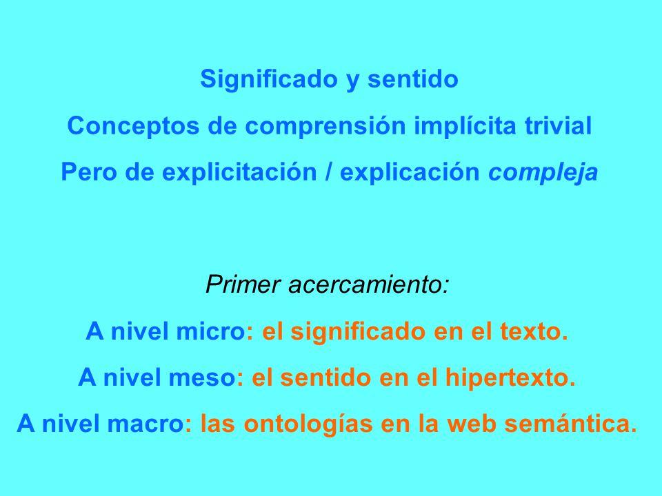 Conceptos de comprensión implícita trivial