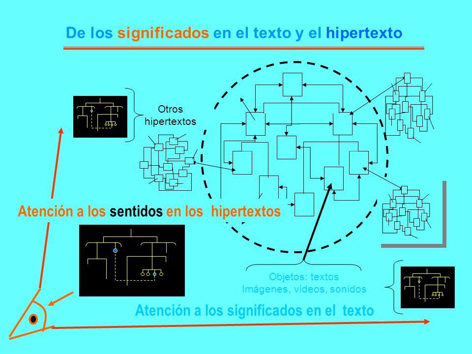 De los significados en el texto y el hipertexto
