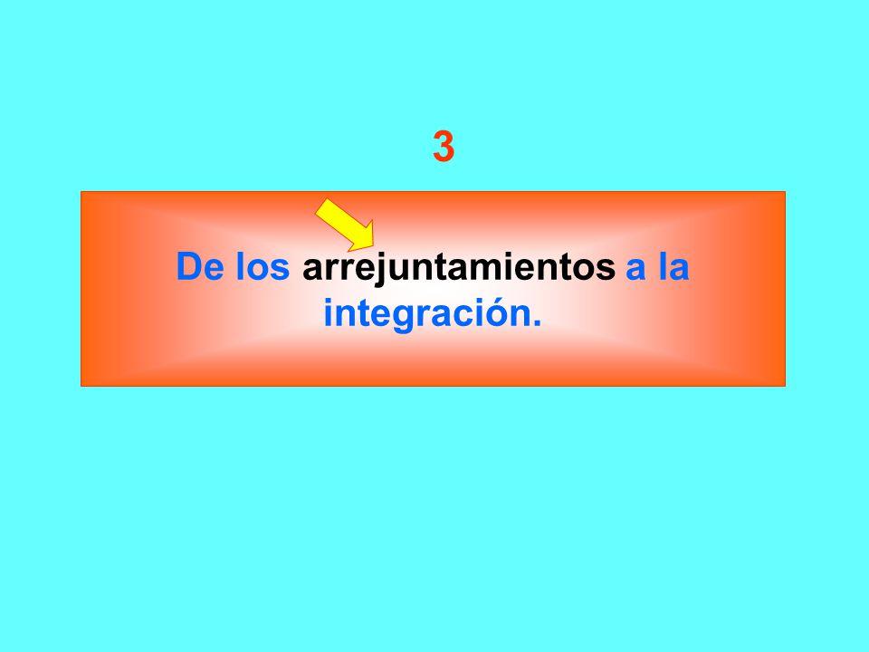 De los arrejuntamientos a la integración.