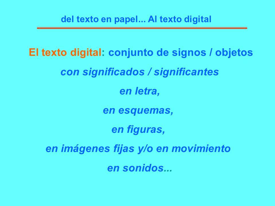 El texto digital: conjunto de signos / objetos