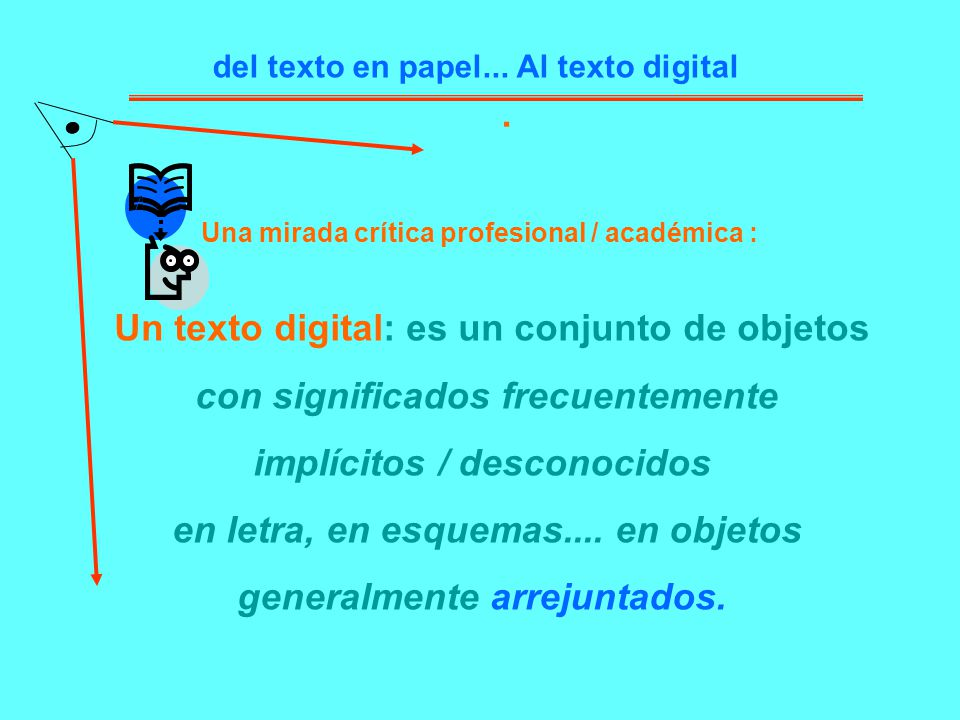 Un texto digital: es un conjunto de objetos