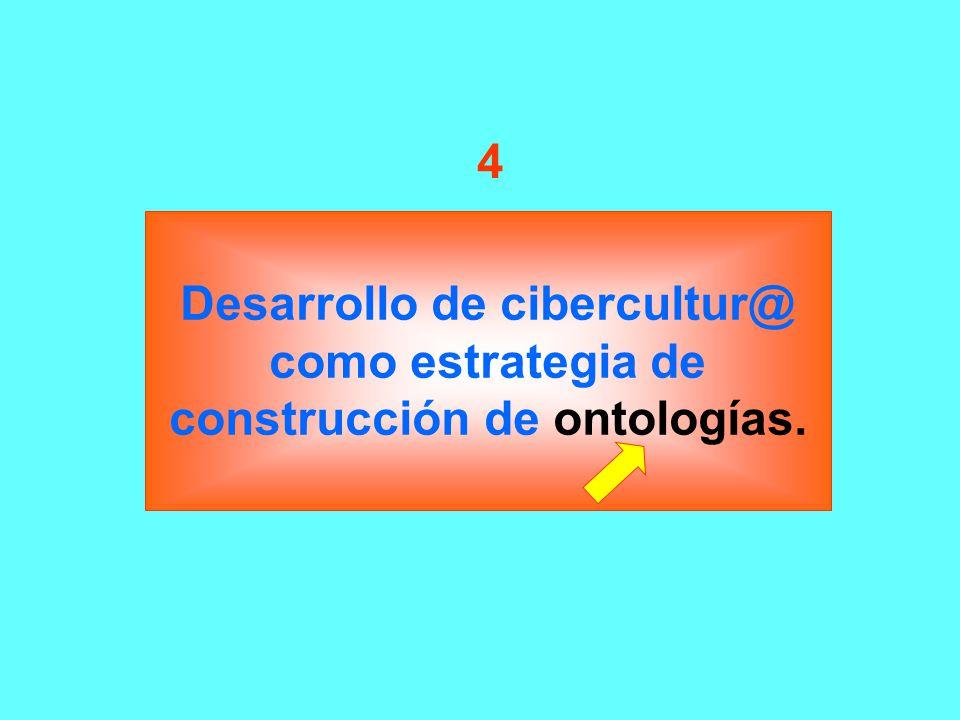 4 Desarrollo de cibercultur@ como estrategia de construcción de ontologías.