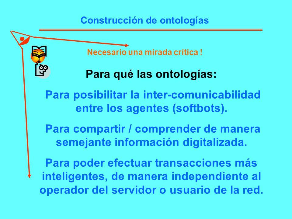 Para qué las ontologías: