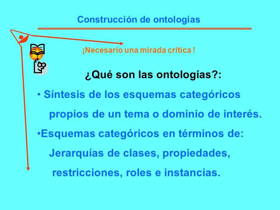¿Qué son las ontologías :