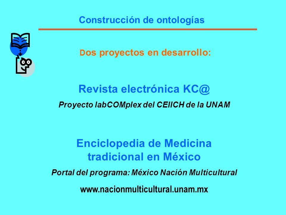 Revista electrónica KC@ Enciclopedia de Medicina tradicional en México