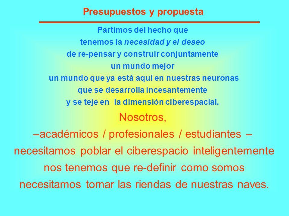 –académicos / profesionales / estudiantes –